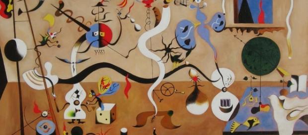 Il carnevale di Arlecchino, olio su tela, 1924-25