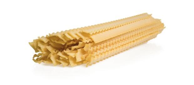 la caratteristica della pasta mafalda? i bordi arricciati che ne fanno un merletto