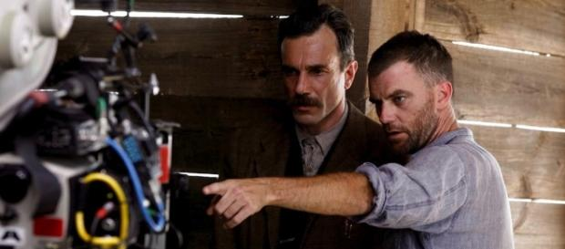 PTA and DDL are back together again / Photo via Together Again: Jonny Greenwood, Paul Thomas Anderson, and Daniel ... - filmschoolrejects.com