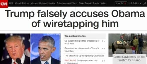 CNN rushes to judgment just hours after Trump makes wiretapping claim (Screenshot by Marlin Bressi).