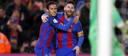 Neymar e Messi brilharam na partida contra o Celta de Vigo.
