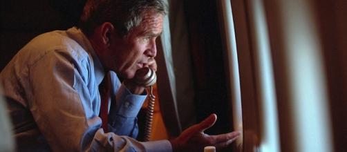 Photos show George W Bush prepare to address USA within 24 hours ... - dailymail.co.uk