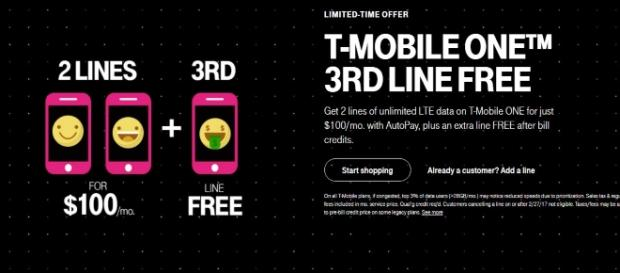 Enjoy the benefits of a free third line if you have two - t-mobile.com