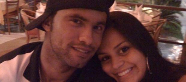Ex-goleiro Bruno e sua mulher Ingrid Calheiros