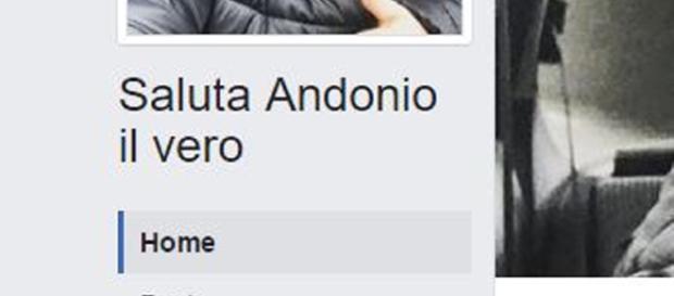 """La pagina ufficiale """"saluta andonio"""" con oltre 170 mila like"""