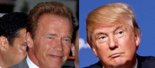Schwarzenegger and Trump, Wikimedia Commons and Wikipedia, https://en.wikipedia.org/wiki/File:Donald_Trump_August_19,_2015_(cropped).jpg