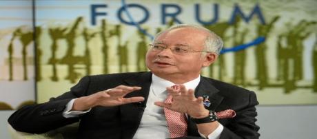 Le 25 janvier 2013, Najib Razak, Premier ministre malaisien, au forum économique de Davos