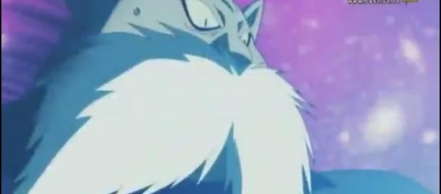 Toppo se ve sorprendido por Goku