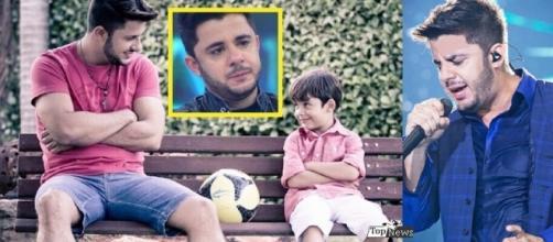 Filho de Cristiano Araújo comove fãs com reação ao ver o pai em vídeo na TV