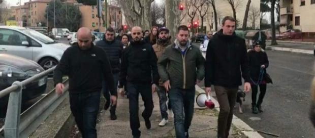 A guidare la protesta dei residenti è stata CasaPound