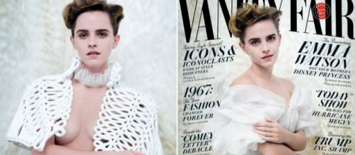 People are angry feminist Emma Watson has posed for a braless ... - metro.co.uk