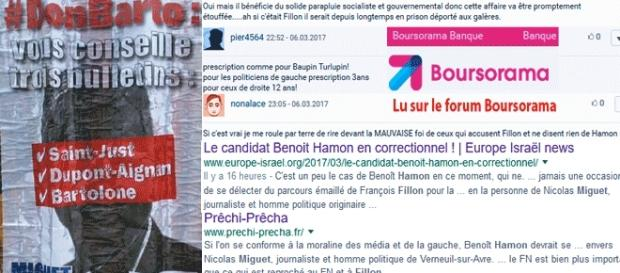 """Les sympathisants de François Fillon ont largement repris le thème du """"complot médiatique"""" qui aurait tu la mise en examen de Benoît Hamon"""