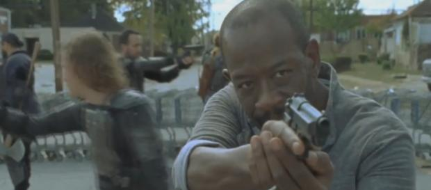 Morgan, no 13º episódio da sétima temporada de The Walking Dead