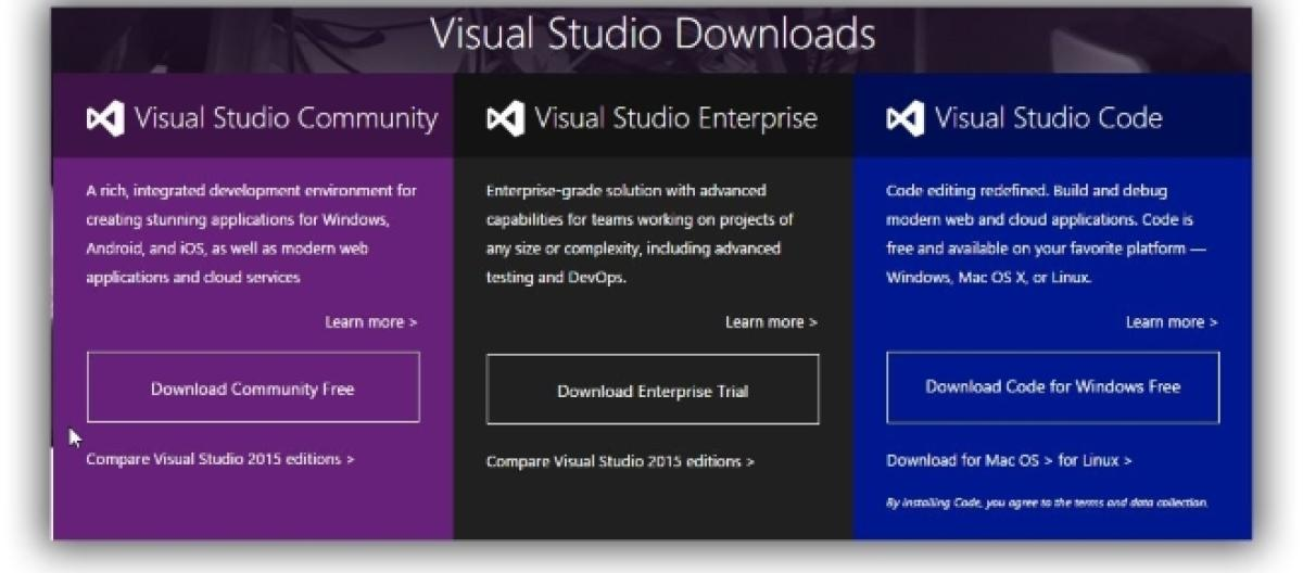Microsoft Visual Studio 2015 Community For Mac