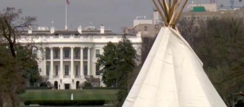 One of many teepees on National Mall. YouTube-ABC7/Screencap