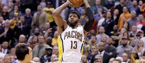 Paul George and the Pacers host the Pistons on Wednesday night as part of an ESPN doubleheader. [Image via Blasting News image library/inquisitr.com]