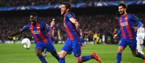 Sergi Roberto decide la gara tra Barcellona e PSG