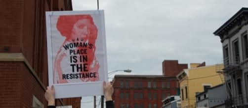 Taken by the writer at the Women's March on Cincinnati (January 2017).