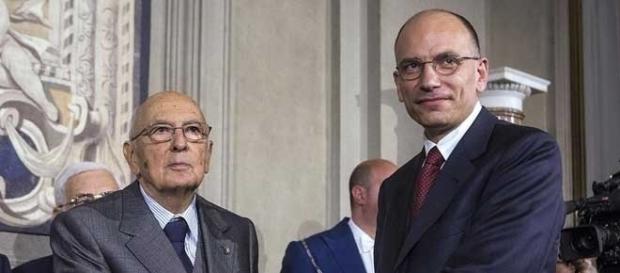 Giorgio Napolitano ed Enrico Letta