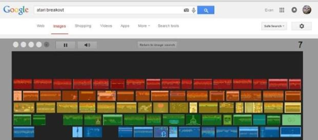 Google easter eggs Atari Breakout.