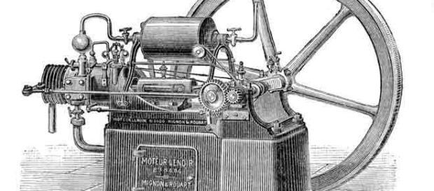 Motor de combustão interna, inventado em 1860