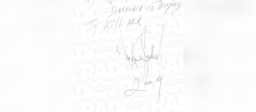 Pagina autografata da Michael Jackson del suo diario segreto (credits: radarOnline)