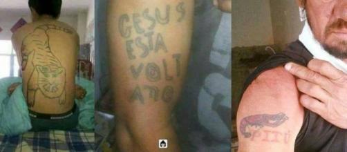 Pessoas que não procuraram um profissional certo na hora de fazer uma tatuagem