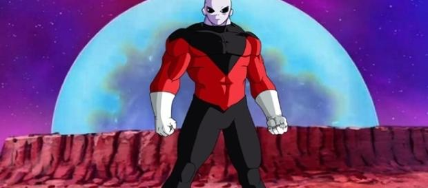 Jiren versus Goku y Hit. Dragon Ball Super el guerrero del dios payaso