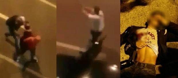 Um dos assaltantes foi atingido e o outro fugiu.