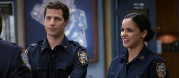 "When ""Brooklyn Nine-Nine"" returns to FOX, viewers will find out how Jake and Amy are dealing with living together. (via YouTube)"
