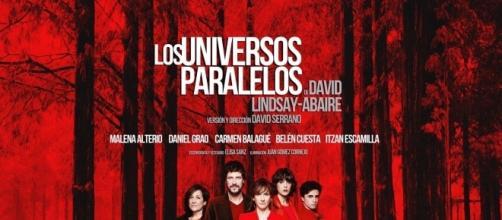 """Cartel Oficial de """"Los Universos Paralelos"""" - Fotografía: Javier Naval"""