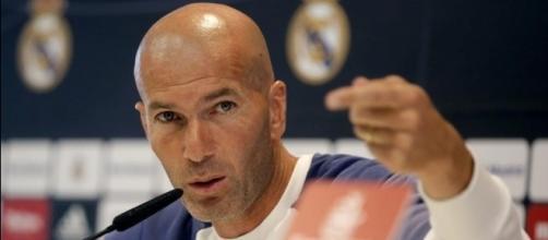 Zidane en rueda de prensa, via el periodico.com