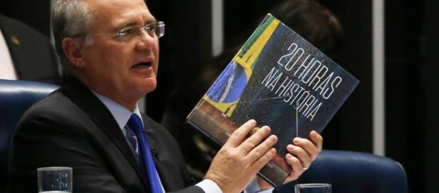 Senador Renan Calheiros (PMDB-AL), demonstra insatisfação com o presidente Michel Temer