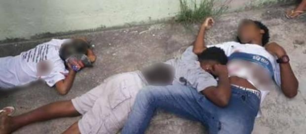 Três adolescentes foram executados em plena luz do dia no RJ.