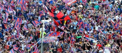 I tifosi del Crotone, formazione di Serie A.
