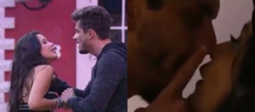 Marcos comete violência doméstica contra EMilly dentro do BBB 17 (Foto: Reprodução)