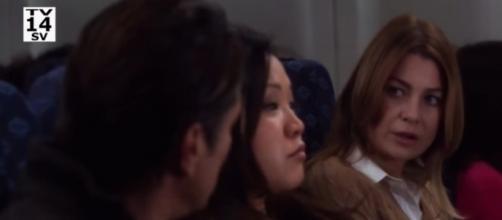 Meredith isn't happy to see Riggs in 'Grey's Anatomy' this week [Image via YouTube/https://youtu.be/QiH4WwklHr4]