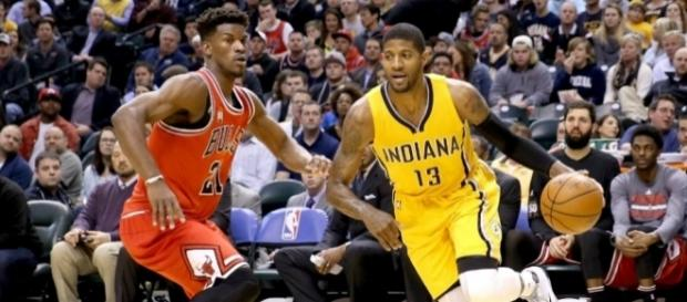 Chicago and Indiana are clinging to the final two playoff spots in the East with two games left. [Image via Blasting News image library/inquisitr.com]