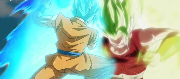 Goku se enfrenta a Kalifula del universo 6