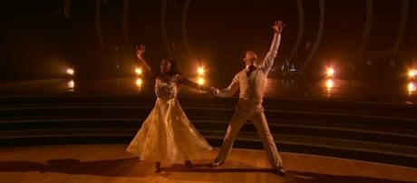 Simone Biles and Sasha Farber perform on 'Dancing with the Stars.' DWTS/YouTube