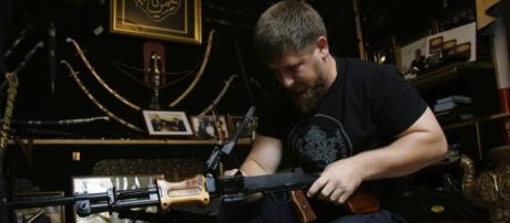 Una foto del leader ceceno Ramzan Kadyrov
