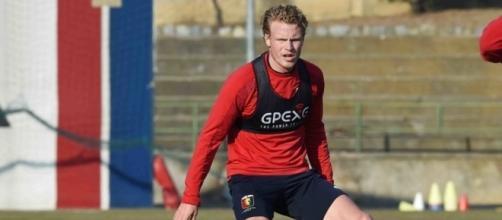 Hiljemark si allena con il Genoa - FOTO: Genoa CFC