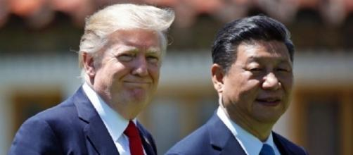 Il presidente americano Donald Trump insieme al leader cinese Xi Jinping