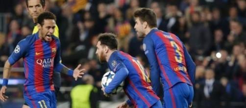 Neymar é uma das esperanças do Barça para o duelo na Itália.