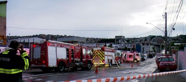 Área onde ocorreu vazamento de gás (Foto: Reprodução/TV Globo)