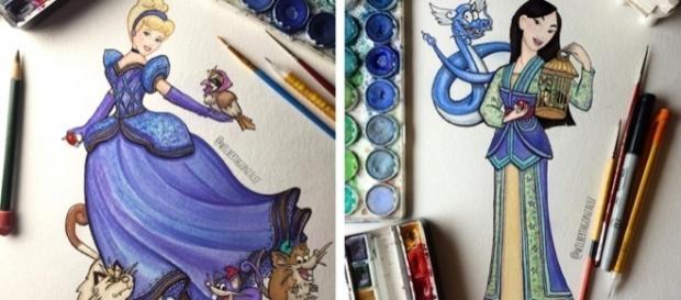 Artista une princesas da Disney e Pokémon em lindas ilustrações. Foto: Reprodução/Instagram/wilberthgonzalez