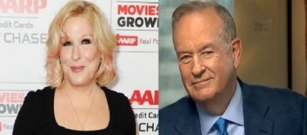Bette Midler, Bill O'Reilly, via Twitter