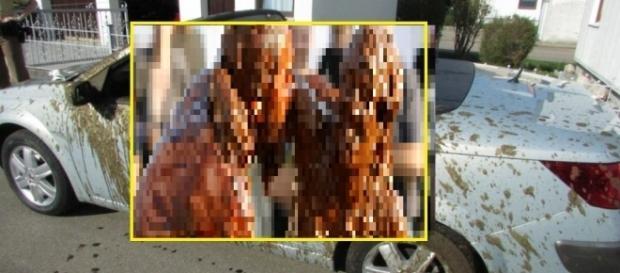 Carro sofre perda total e ocupantes chuva de cocô, após acidente com carro de agricultor