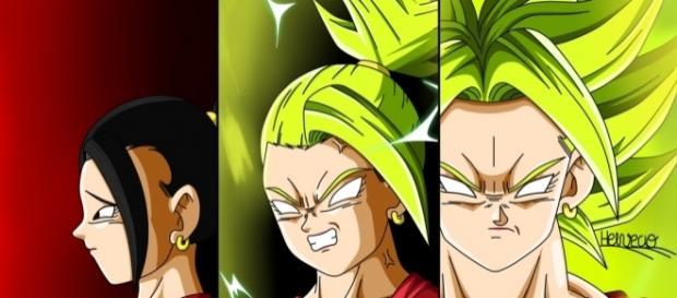 """Dragon Ball Super"" the extent of female Broly's power level (http://img12.deviantart.net/f102/i/2017/025/b/f/female_ssj_dbs)"