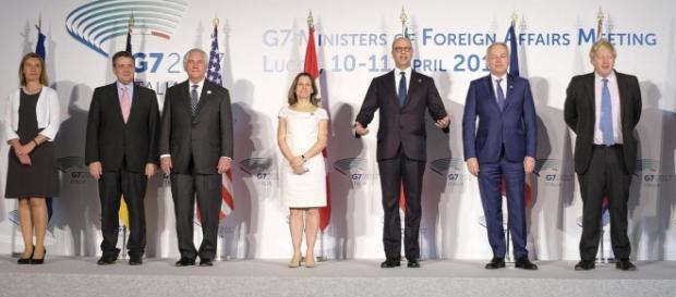 I ministri degli Affari Esteri al G7 di Lucca (tramite corriere.it)